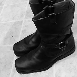 Sketchers leather mens size 12 riding boots